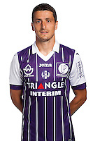 Dusan Veskovac of Toulouse during the photo shooting session of Toulouse FC for the new season 2016/2017 in Toulouse on September 16th 2016<br /> Photo : TFC / Icon Sport