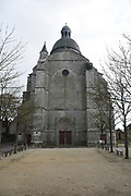 Saint-Quiriace collegiate church in the medieval town of Provins, Seine et Marne, Ile de France France. In 1429 Jeanne D'ark and Charles VII attended mass in this church