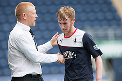 Falkirk's manager Gary Holt after subbing Falkirk's Craig Sibbald.<br /> half time : Falkirk v Cowdenbeath, Scottish Championship game played today at The Falkirk Stadium.<br /> © Michael Schofield.
