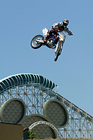 """Jul 01, 2003; Anaheim, California, USA; Moto X star athlete RONNIE RENNER catches air at Disney's California Adventure """"X Games Experience"""".  <br />Mandatory Credit: Photo by Shelly Castellano/Icon SMI<br />(©) Copyright 2003 by Shelly Castellano"""