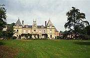 Chateau and park. Chateau des Vaults, Domaine du Closel, Savennieres, Loire, France