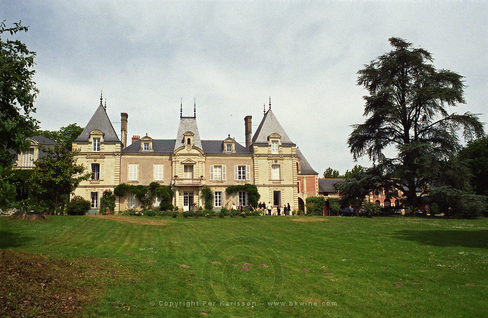 Chateau and park. Chateau des Vaults, Domaine du Closel, Savennieres, Loire, France