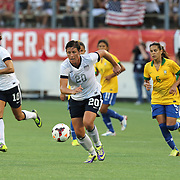 U.S. forward Abby Wambach (20) during a women's soccer International friendly match between Brazil and the United States National Team, at the Florida Citrus Bowl  on Sunday, November 10, 2013 in Orlando, Florida. The U.S won the game by a score of 4-1.  (AP Photo/Alex Menendez)
