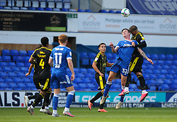 Max Ehmer of Bristol Rovers wins a header - Mandatory by-line: Arron Gent/JMP - 05/09/2020 - FOOTBALL - Portman Road - Ipswich, England - Ipswich Town v Bristol Rovers - Carabao Cup