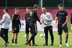 September 4, 2018 - Tubize, Belgique - Davy Roef, goalkeeper of Belgium with Roberto Martinez, manager of the Belgium national football team (Credit Image: © Panoramic via ZUMA Press)