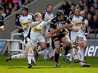 Photo: Jed Wee.<br />Newcastle Falcons v Leeds Tykes. Guinness Premiership. 06/05/2006.<br /><br />Newcastle's Geoff Parling attacks.