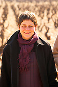 Helene Chouvet, owner, in the vineyard at Domaine Fontavin, Chateauneuf-du-Pape, Vaucluse, Rhone, Provence, France