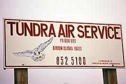 Tundra Air Service Sign