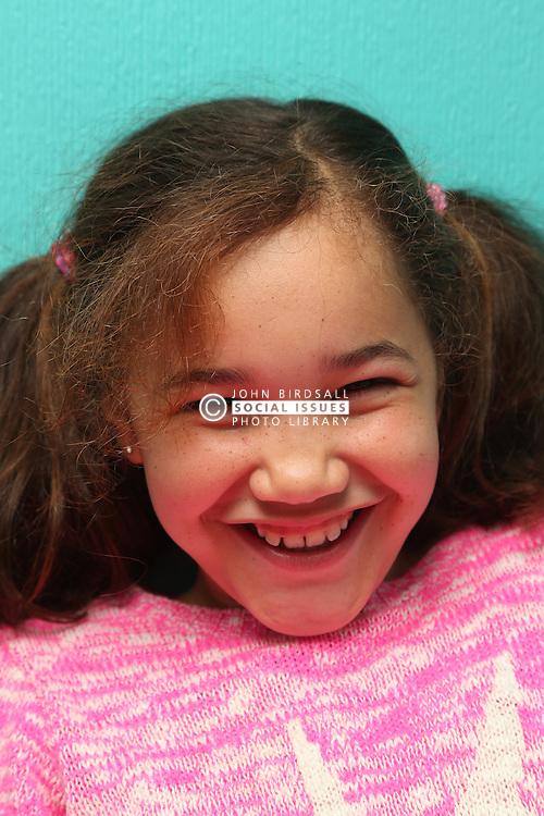 Portrait of girl smiling