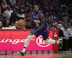 October 21, 2018 - Los Angeles, California, U.S - Patrick Beverley #21 of the Los Angeles Clippers drives downcourt during their NBA game with the Houston Rockets on Sunday October 21, 2018 at the Staples Center in Los Angeles, California. (Credit Image: © Prensa Internacional via ZUMA Wire)