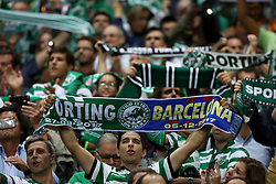 September 27, 2017 - Lisbon, Portugal - Sporting's fans during the UEFA Champions League football match Sporting vs Barcelona at the Alvalade stadium in Lisbon, Portugal on September 27, 2017. Photo: Pedro Fiuza  (Credit Image: © Pedro Fiuza/NurPhoto via ZUMA Press)