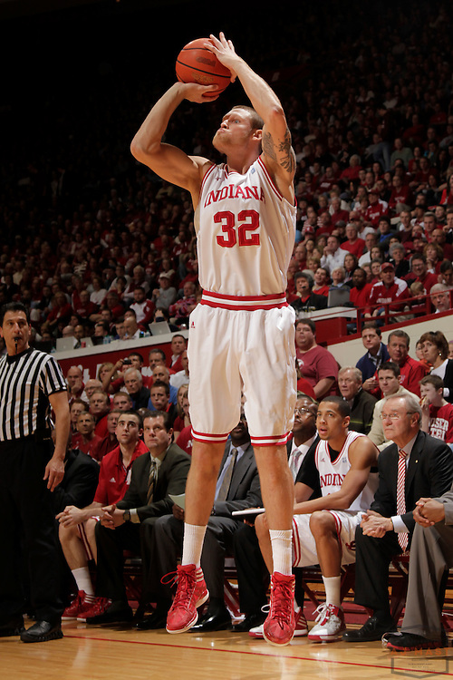 15 February 2012: Indiana Forward Derek Elston (32)  as the Indiana Hoosiers played the Northwestern Wildcats in a college basketball game in Blomington, Ind.