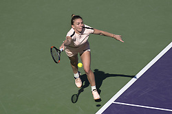 March 22, 2018 - Miami, FL, United States - Miami, FL - March, 22: Simona Halep (ROU)in action here, defeats Oceane Dodin (FRA) 36 63 75 at the 2017 Miami Open held at the Tennis Center at Crandon Park.   Credit: Andrew Patron/Zuma Wire (Credit Image: © Andrew Patron via ZUMA Wire)