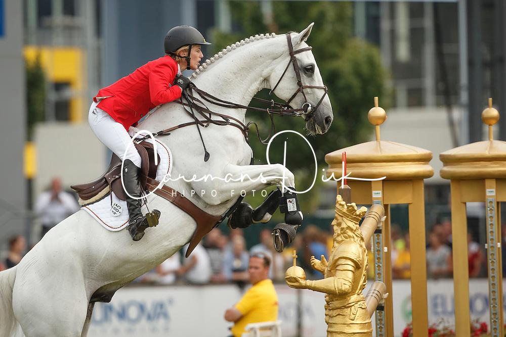 Michaels-Beerbaum Meredith, (GER), Fibonacci 17<br /> Individual Final Competition<br /> FEI European Championships - Aachen 2015<br /> © Hippo Foto - Dirk Caremans<br /> 23/08/15