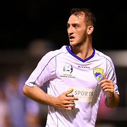 BRISBANE, AUSTRALIA - FEBRUARY 10: Nicholas Panetta of United looks on during the NPL Queensland Senior Mens Round 2 match between Gold Coast United and Brisbane Roar Youth at Station Reserve on February 10, 2018 in Brisbane, Australia. (Photo by Football Click / Patrick Kearney)