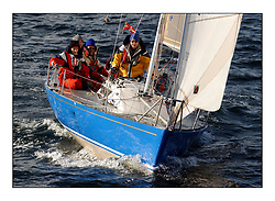 Yachting- The start of the Bell Lawrie Scottish series 2002 at Gourock racing overnight to Tarbert Loch Fyne where racing continues over the weekend.<br /><br />Catch a Briand 26 GBR520 <br />class 4<br />Pics Marc Turner / PFM