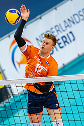 Bennie Tuinstra of Netherlands in action during the CEV Eurovolley 2021 Qualifiers between Croatia and Netherlands at Topsporthall Omnisport on May 16, 2021 in Apeldoorn, Netherlands