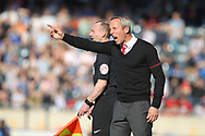 Lee Bowyer during the EFL Sky Bet League 1 match between Rochdale and Charlton Athletic at Spotland, Rochdale, England on 5 May 2018. Picture by Daniel Youngs.