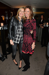 """Left to right, KIM HERSOV and HEATHER KERZNER at a private screening Of """"The Gun, The Cake and The Butterfly"""" hosted by Amanda Eliasch at The Bulgari Hotel, 171 Knightsbridge, London on 24th March 2014."""