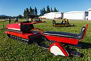 Vintage snowmobiles at WAAAM.