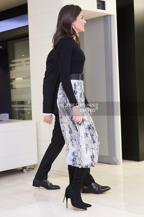 Queen Letizia of Spain attends to the First Global Forum on the Socioeconomic Impact of Traffic Accidents with Child Victims at Abertis Headquarters on December 12, 2019 in Madrid, Spain