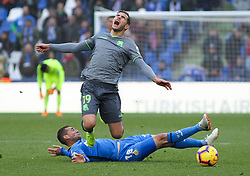 December 15, 2018 - Getafe, Spain - THEO HERNANDEZ of Real Sociedad is tripped up by CRISTOFORO of Getafe during Spanish La Liga action at Coliseum Alfonso Perez. (Credit Image: © AFP7 via ZUMA Wire)