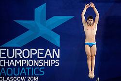 August 6, 2018 - Edinburgh, UNITED KINGDOM - VINKO PARADZIK of Sweden competes in the final of the team event 3m/10m diving during the European Championships in Edinburgh. (Credit Image: © Jon Olav Nesvold/Bildbyran via ZUMA Press)