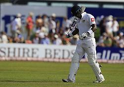 November 7, 2018 - Galle, Sri Lanka - Sri Lankan cricketer Angelo Mathews walks back following his dismissal during the 2nd day's play of the first test cricket match between Sri Lanka and England at Galle International cricket stadium, Galle, Sri Lanka. 11-07-2018  (Credit Image: © Tharaka Basnayaka/NurPhoto via ZUMA Press)