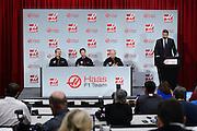 September 29, 2015: Guenther Steiner, Haas F1 Team principle.  Romain Grosjean, Gene Haas Haas Formula 1 team.
