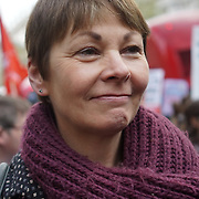 London,England,UK : 26th April 2016 : Caroline Lucas attend Junior doctors strikes at the Department of Health in London. Photo by See Li