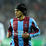 Trabzonspor's Gustavo COLMAN during their UEFA Champions League group stage matchday 4 soccer match Trabzonspor between CSKA Moskva at the Avni Aker Stadium at Trabzon Turkey on Wednesday, 02 November 2011. Photo by TURKPIX
