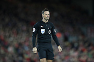 Referee, Mark Clattenburg during the Premier League match at Anfield Stadium, Liverpool. Picture date: December 11th, 2016.Photo credit should read: Lynne Cameron/Sportimage