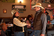 Bud Petryszak greeting a friend at the premier party for Dead End Express.
