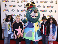 """Tafari, Sadie, Toby and Chanel (Kidzbop) at the """"Moley"""" premiere, Leicester Square, London, Location, London, UK - 25 Sep 2021 photo by Roger Alacron"""