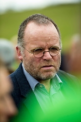Pictured: Andy Wightman<br /> <br /> The Scottish Green Party's Andy Wightman, MSP, joined local election candidate Ian Baxter at the proposed site of a new film studio in Edinburgh ahead of the local council elections.<br /> Ger Harley | EEm 17 April 2017