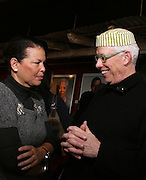 Debra Lee and Ken Bercher at The Black House during the 2008 Sundance Film Festival. ..HISTORY..The Blackhouse Foundation was created in 2007 by a group of dedicated individuals interested in black cinema - preserving and furthering its legacy. Black House works to provide a platform for African American filmmakers to use their voice to tell stories by and about African Americans in the world of independent and feature films...Black filmmakers made history in 2007, the year The Blackhouse Foundation launched the Blackhouse® venue at the 2007 Sundance Film Festival.  Blackhouse® played host to over 150 daily visitors with more than 1,200 people visiting the venue throughout the festival.  Blackhouse® was open to the public throughout the day, hosted workshops, a legendary nightly cocktail hour, a marquee party for Our Stories Films, LLC and launched a landmark fellows program for young, aspiring filmmakers.  ..MISSION..The mission of the Blackhouse Foundation is to expand opportunities for Black filmmakers by providing a physical venue for our constituents at the world's most prominent film festivals and creating a nucleus for continuing support, community, education and knowledge.  .