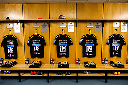General view of the Wasps dressing room ahead of their Premiership Rugby fixture against Gloucester Rugby - Mandatory by-line: Robbie Stephenson/JMP - 07/03/2020 - RUGBY - Ricoh Arena - Coventry, England - Wasps v Gloucester Rugby - Gallagher Premiership Rugby