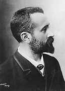 Alphonse Bertillon (1853-1914) French police officer.  In 1880, when Chief of the Paris identification bureau, Bertillon devised a method of identifying criminals using anthropometric measurements.  It was used for a number of years, but was replaced by fingerprinting.  Photo by Nadar, Paris, c1880. Nadar was the pseudonym of Gaspard-Felix Tournachon (1820-1910), French journalist, artist and photographer.