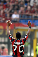 "ROBINHO Milan<br /> Milano 1/5/2011 Stadio ""San Siro - Giuseppe Meazza""<br /> Football / Calcio Campionato Italiano Serie A 2010/2011<br /> Milan Vs Bologna<br /> Foto Andrea Staccioli Insidefoto"