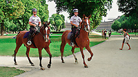 Mounted Park Police on Patrol in Brussels, Belgium. Image taken with a Leica X2 camera (ISO 100, 24 mm, f/3.2, 1/500 sec).