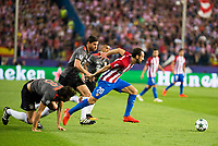 Atletico de Madrid's player Juanfran Torres and Bayern Munich's player Javi Martinez, Xavi Alonso and Thiago Alcantara during match of UEFA Champions League at Vicente Calderon Stadium in Madrid. September 28, Spain. 2016. (ALTERPHOTOS/BorjaB.Hojas)
