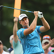 Henrik Stenson, Sweden, in action during the third round of theThe Barclays Golf Tournament at The Ridgewood Country Club, Paramus, New Jersey, USA. 23rd August 2014. Photo Tim Clayton
