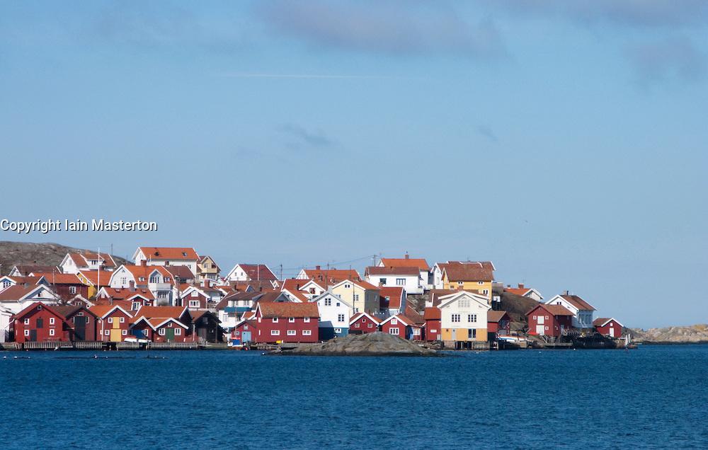 View of village of Gullholmen on Swedens Bohuslan Coast 2009