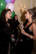 DELILA KHOMO; JEMMA JONES;, Kate Reardon and Michael Roberts host a party to celebrate the launch of Vanity Fair on Couture. The Ballroom, Moet Hennessy, 13 Grosvenor Crescent. London. 27 October 2010. -DO NOT ARCHIVE-© Copyright Photograph by Dafydd Jones. 248 Clapham Rd. London SW9 0PZ. Tel 0207 820 0771. www.dafjones.com.