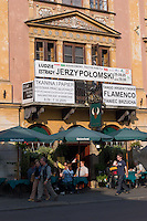 Maly rynek or Small Market Square in Krakow Poland