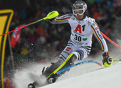 """29.01.2019, Planai, Schladming, AUT, FIS Weltcup Ski Alpin, Slalom, Herren, 1. Lauf, im Bild Dominik Stehle (GER) // Dominik Stehle of Germany in action during his 1st run of men's Slalom """"the Nightrace"""" of FIS ski alpine world cup at the Planai in Schladming, Austria on 2019/01/29. EXPA Pictures © 2019, PhotoCredit: EXPA/ Erich Spiess"""