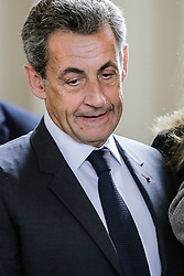 Former French President Nicolas Sarkozy casts his ballot for the first round of the presidential elections at a polling station in Paris, France on April 23, 2017. Photo by Thibaud Moritz/ABACAPRESS.COM