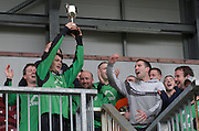 Oranbay's Daragh Murphy celebrates in Terryland. Photo:Andrew Downes