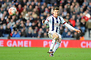 West Brom's Sebastien Pocognoci sends over a cross. The Emirates FA Cup, 4th round match, West Bromwich Albion v Peterborough Utd at the Hawthorns stadium in West Bromwich, Midlands on Saturday 30th January 2016. pic by Carl Robertson, Andrew Orchard sports photography.