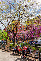 Columbus Park, Chinatown, New York, New York USA.